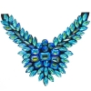 Crystal Motifs Necklace Wings Turquoise Aurora Borealis